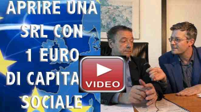 Aprire una società con un euro di capitale srl semplificata