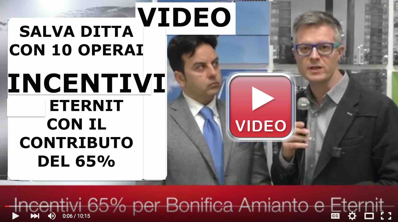 Video bonifica amianto rimozione eternit