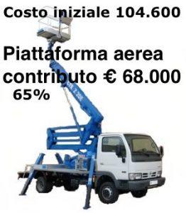 Finanziamento 65% per piattaforma aerea camion gru