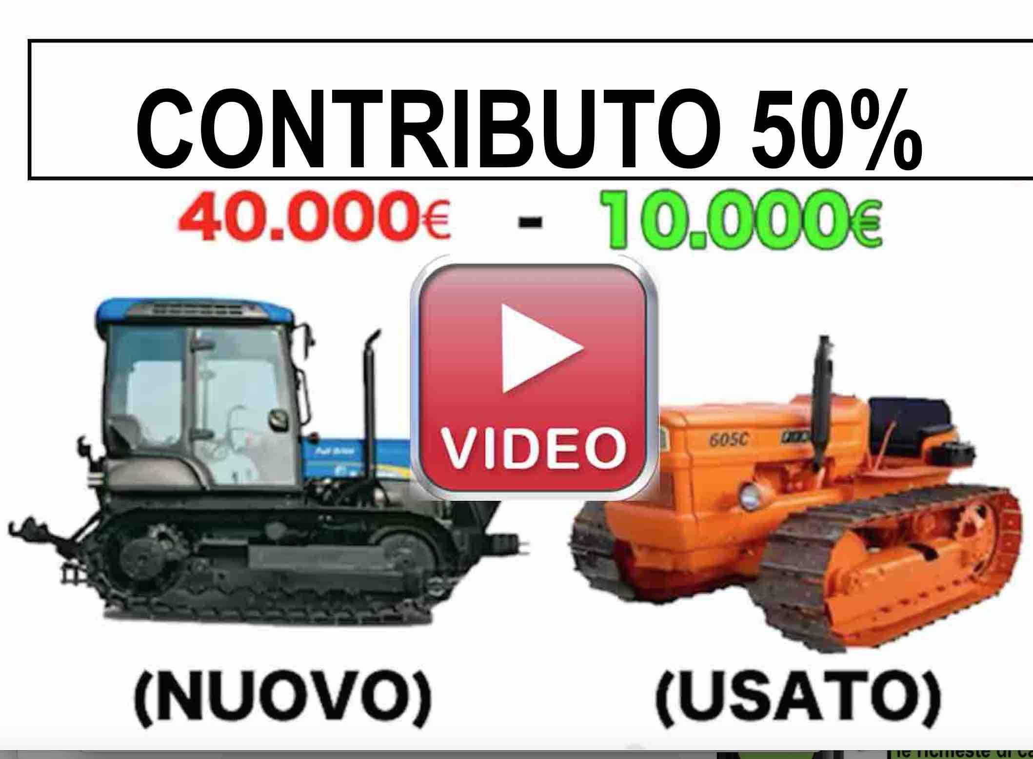 Video Contributo trattori e macchinari agricoli