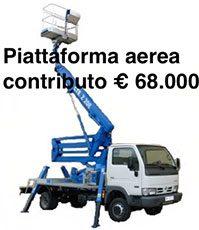 contributo 68.000 euro piattaforma aerea